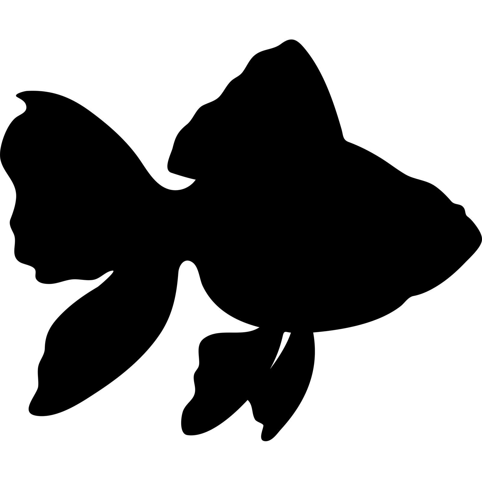 Fishing Boat Silhouette Drawing Free Image