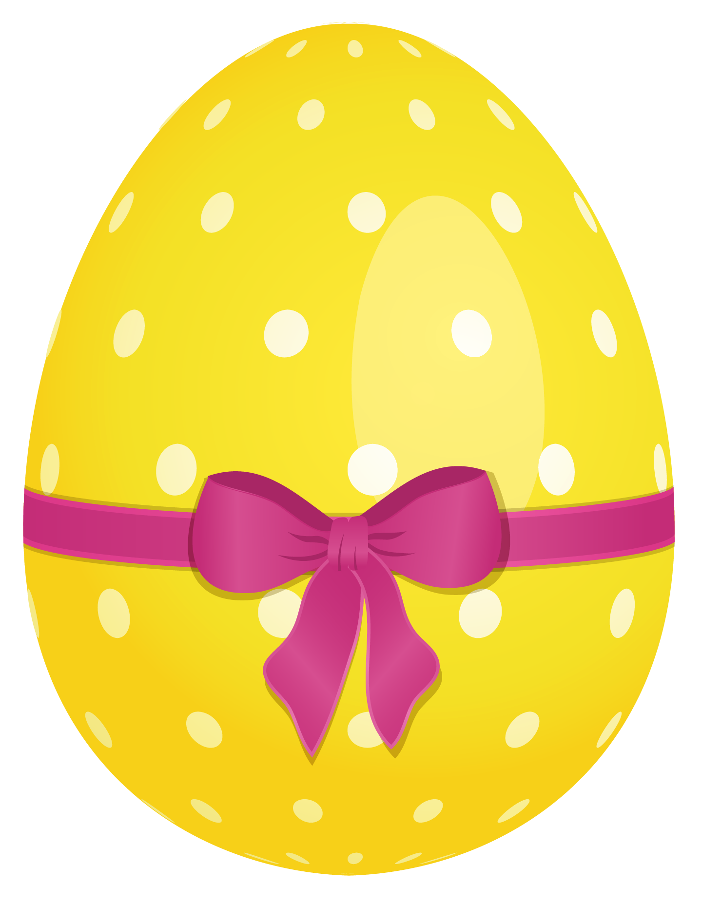 Easter Egg yellow drawing free image