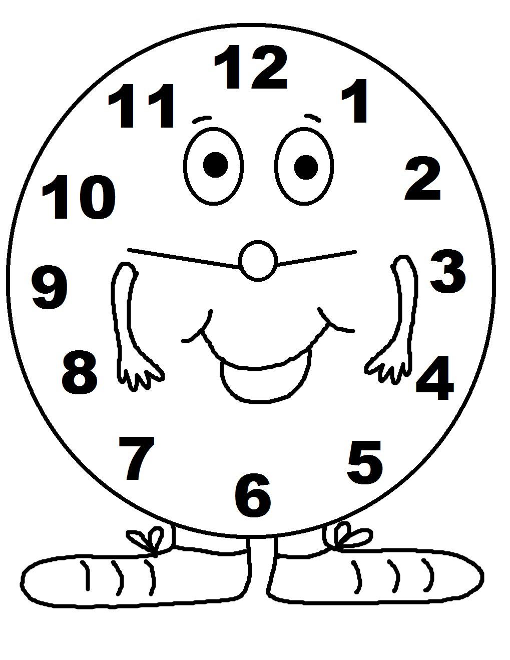 Reloj Para Colorear E Imprimir free image