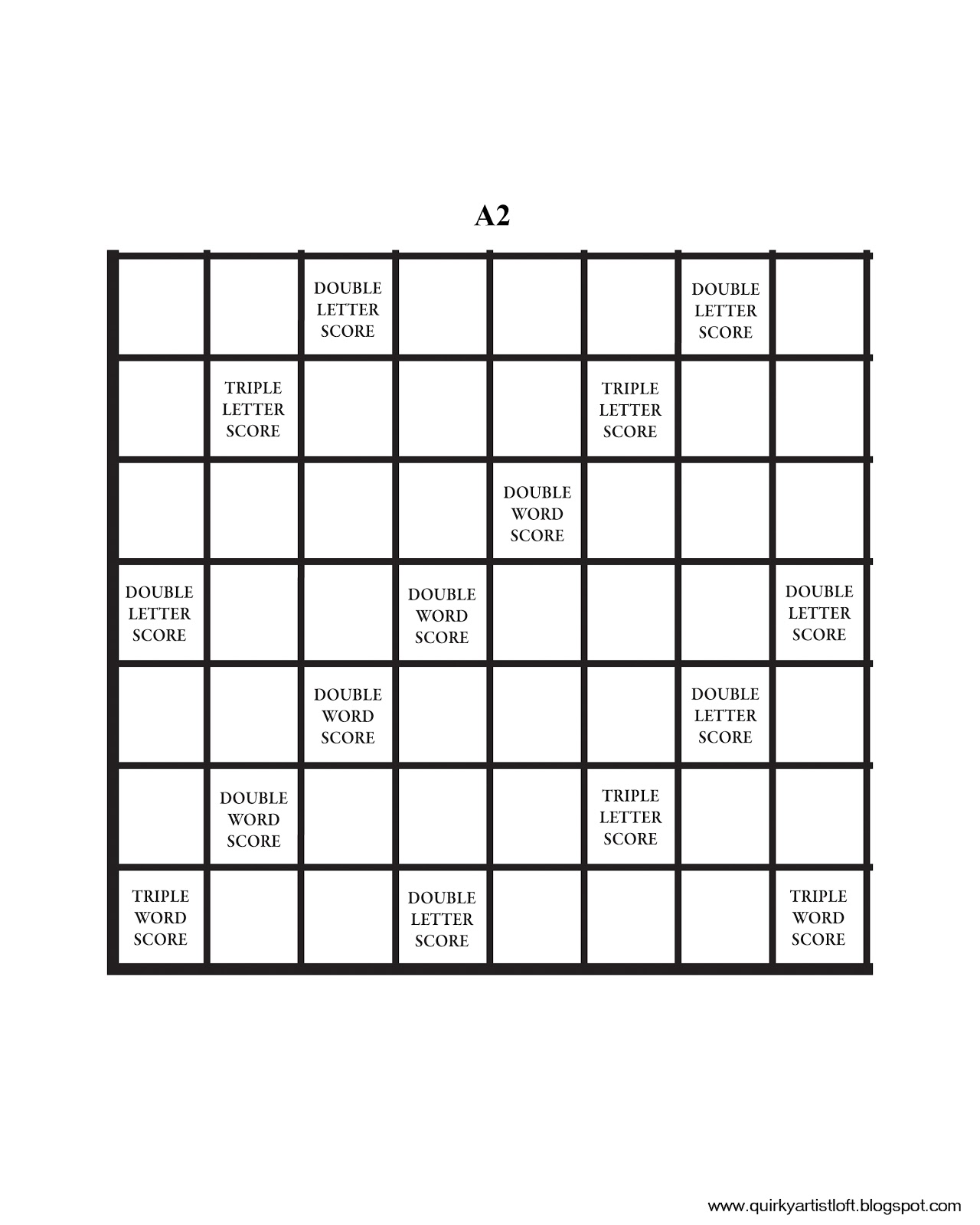 graphic relating to Printable Scrabble Board known as Quirky Artist Loft Do-it-yourself Printable Scrabble Board no cost impression