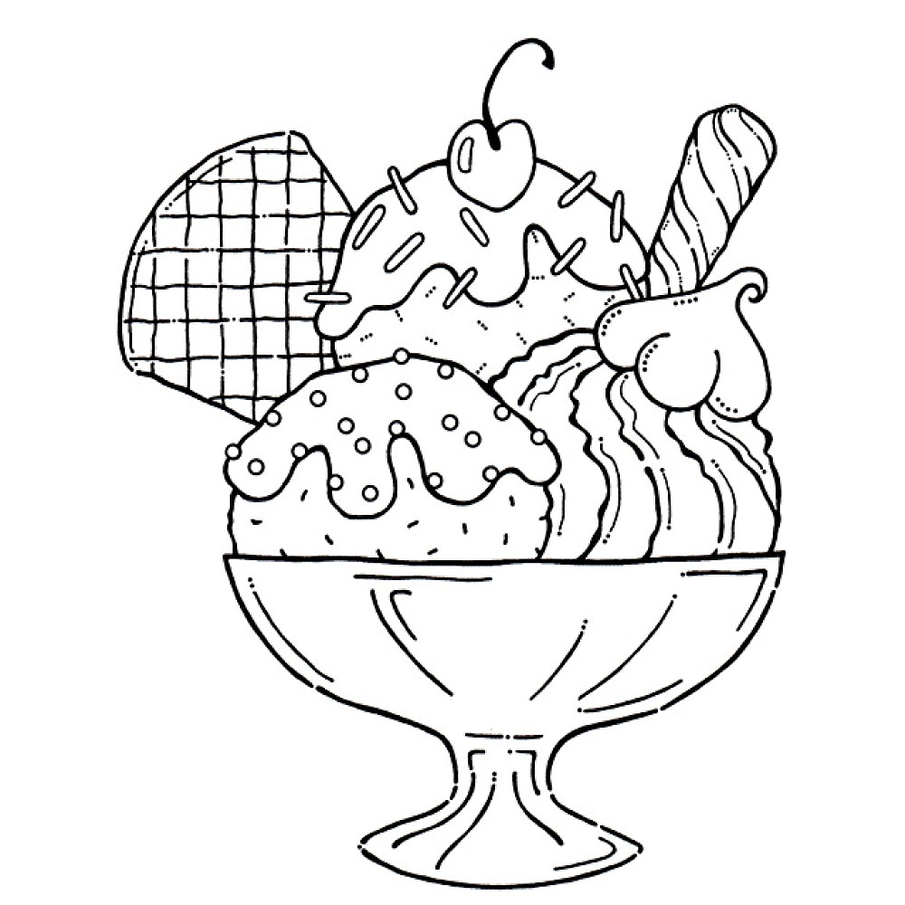 Free printable ice cream coloring pages for kids clipart · free download