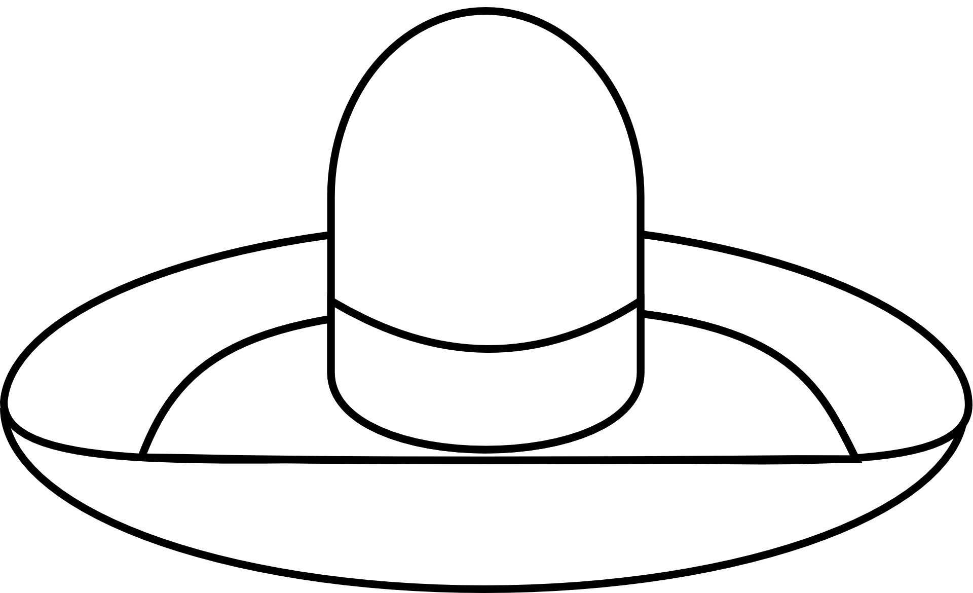 Sombrero Hat Mexico Clip Art - Mexican Transparent PNG