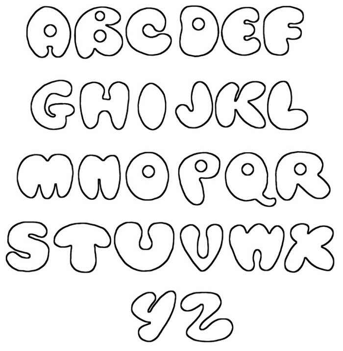 Graffiti Fonts Alphabet Printable Bubble A Z free image