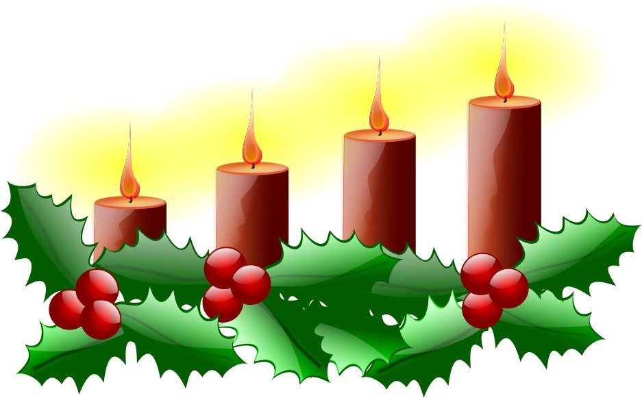 Clipart Of The Christmas Candles Free Image Download