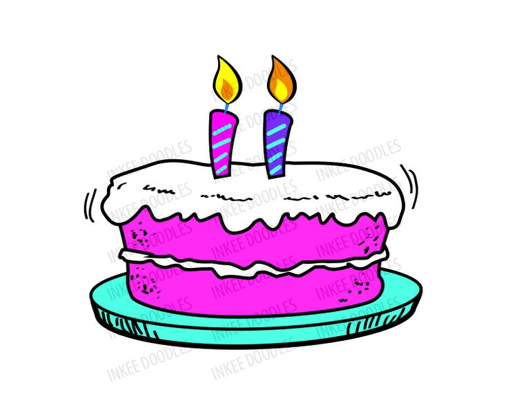 Birthday Candles Balloon Party Hat Happy Cake Clipart Free Image Download