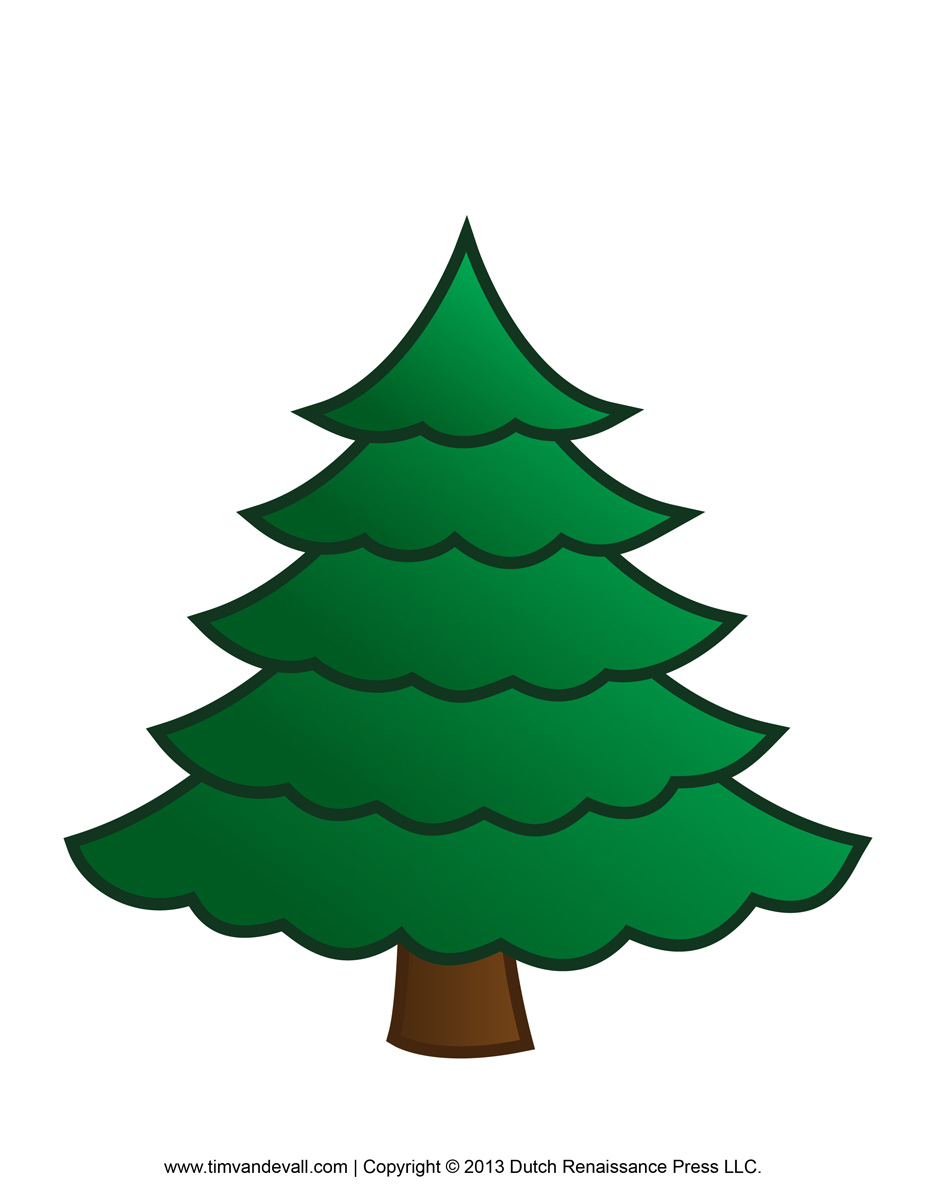 Tree Outline Printable Paper Christmas Template Free Image