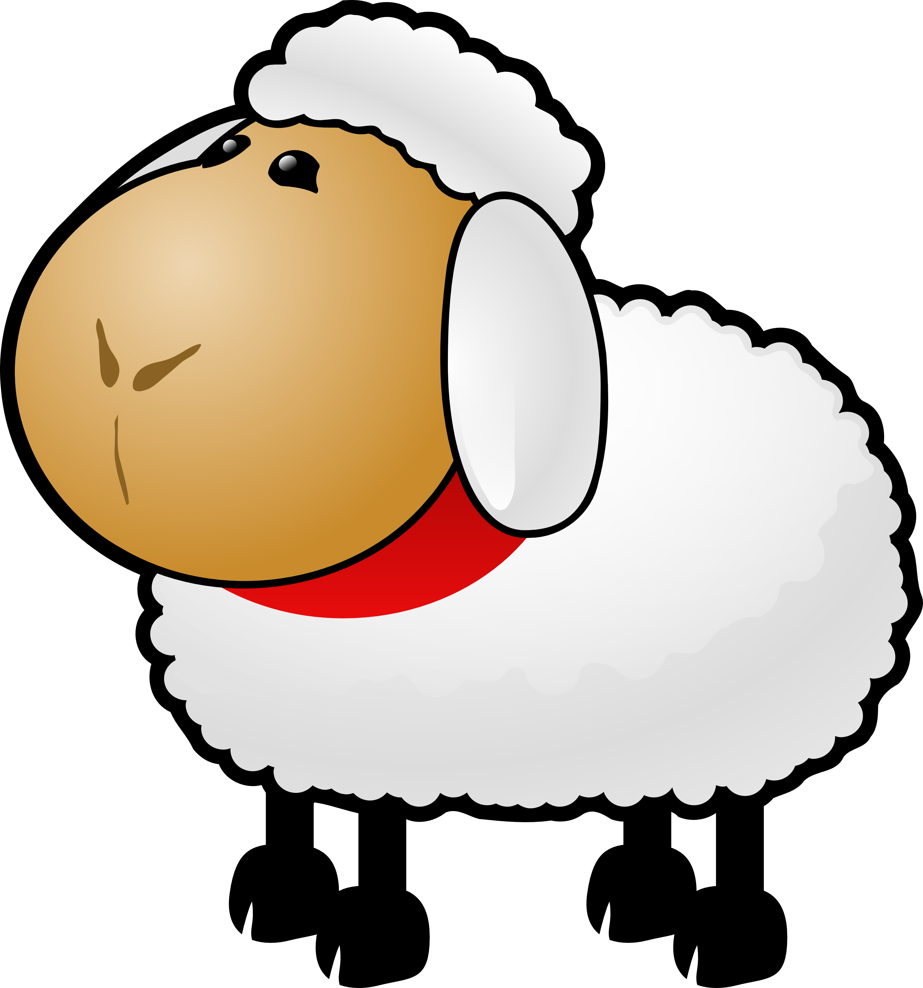 Cute Sheep Clipart Free Image Download