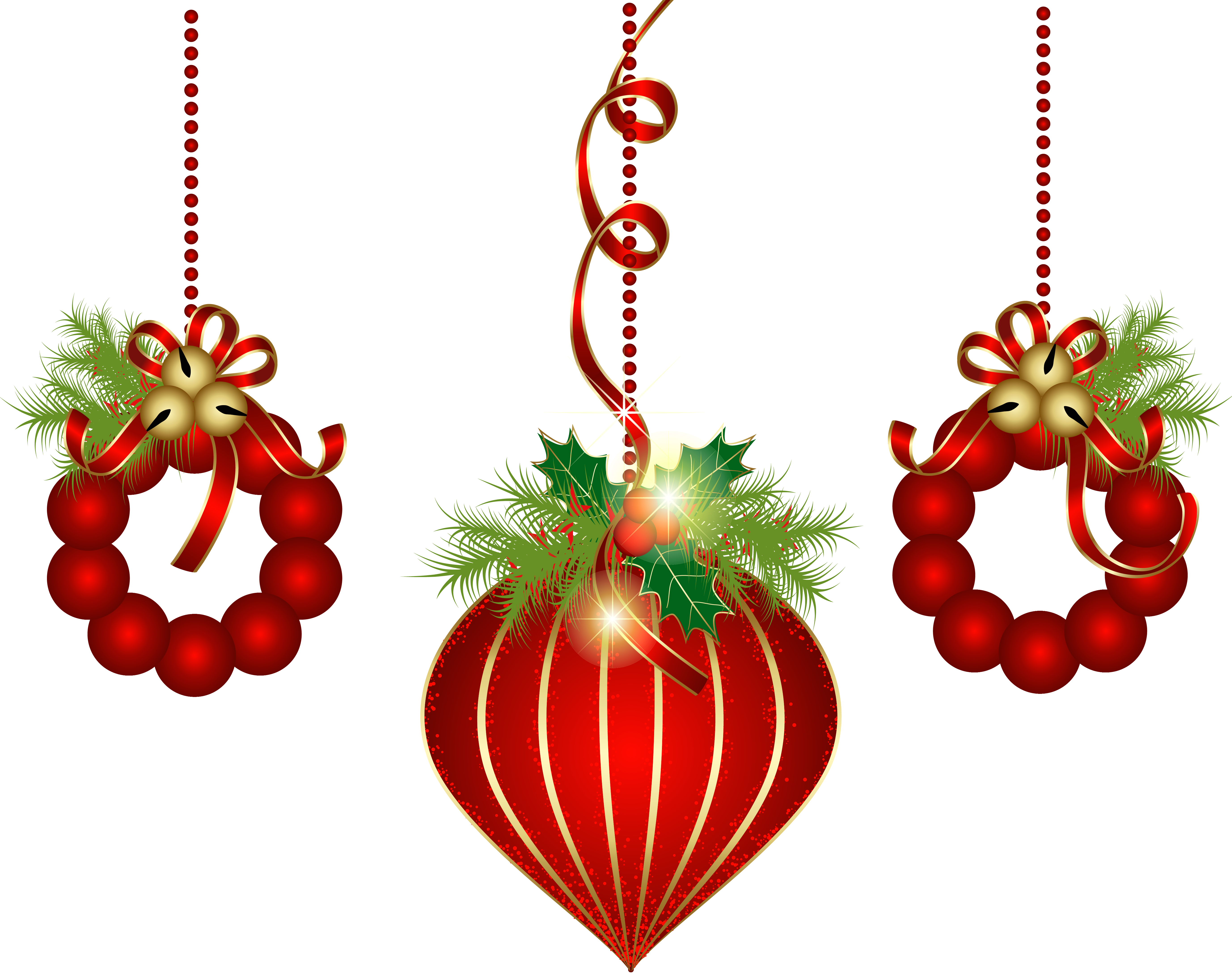 three red christmas ornaments drawing free image pixy org