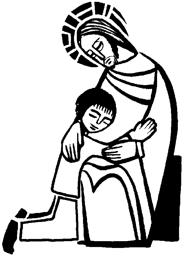 Sacrament Of Reconciliation, Jesus And Child, Coloring Page ...