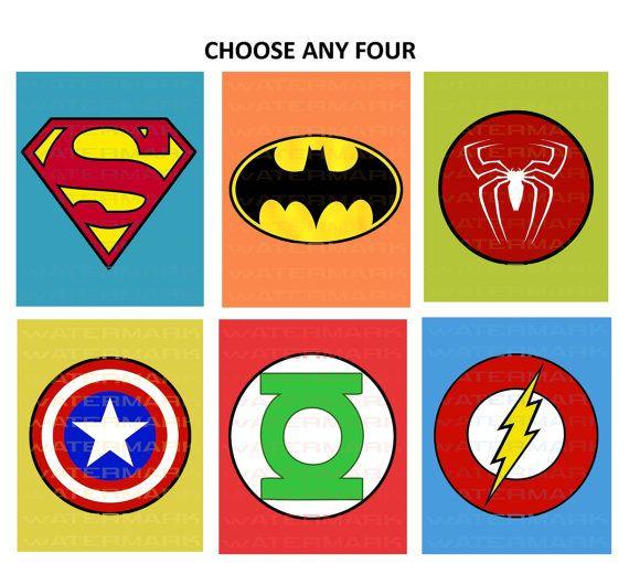 Printable Superhero Symbols Cake Ideas And Designs clipart