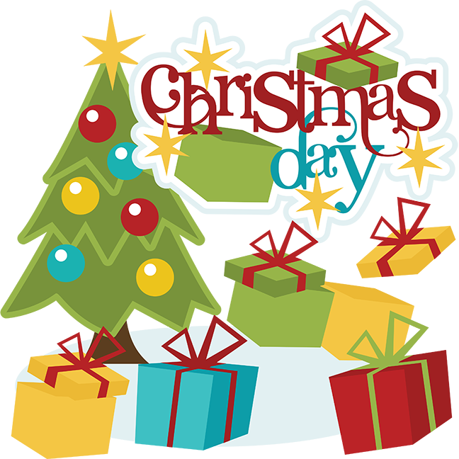 Christmas Day Scrapbook Svg Cute Clip Clipart Free Image