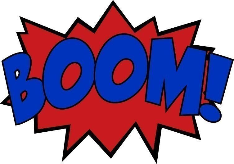 Mini Comic Sound Effect Decals Boom Zam Ka Pow free image