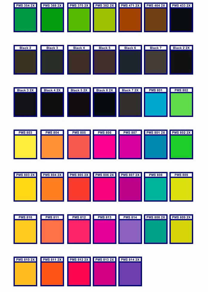 Pantone Color Matching Chart Free Image