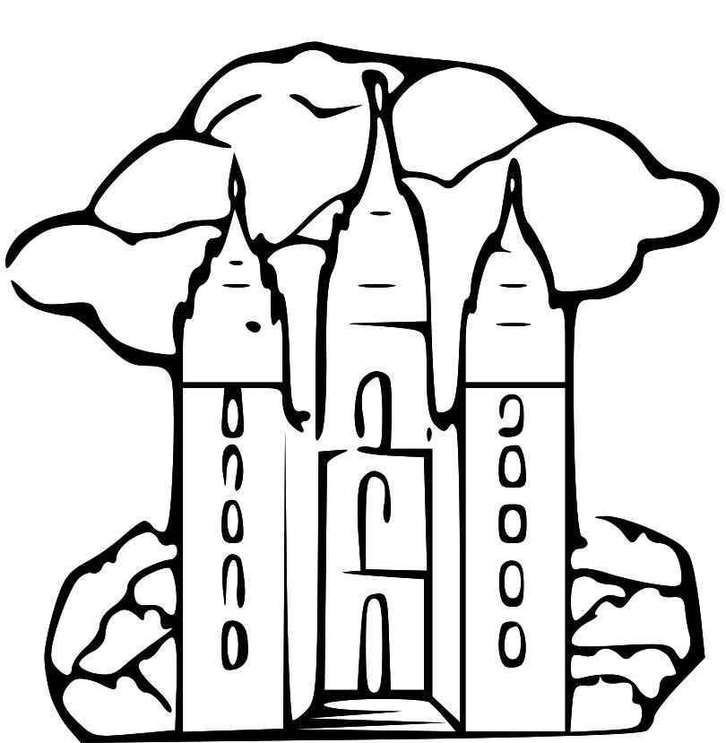 Lds Temple Coloring Pages Az Free Image