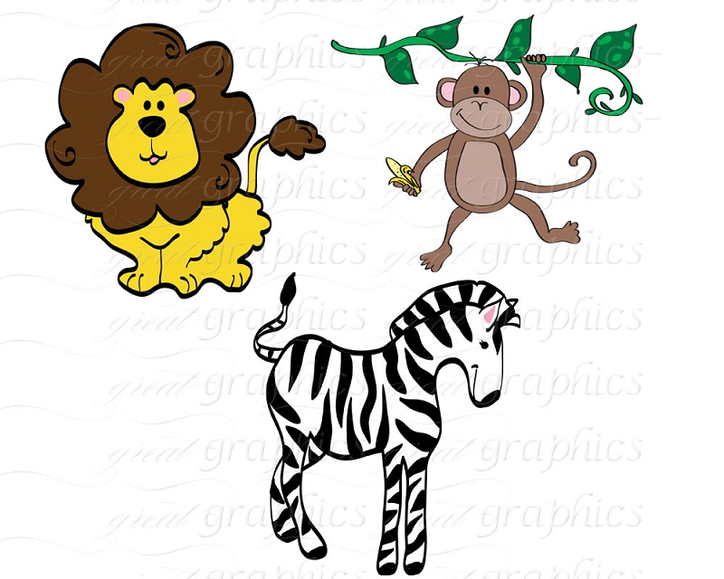 picture relating to Printable Jungle Animals titled Totally free Printable Jungle Animal clipart free of charge impression