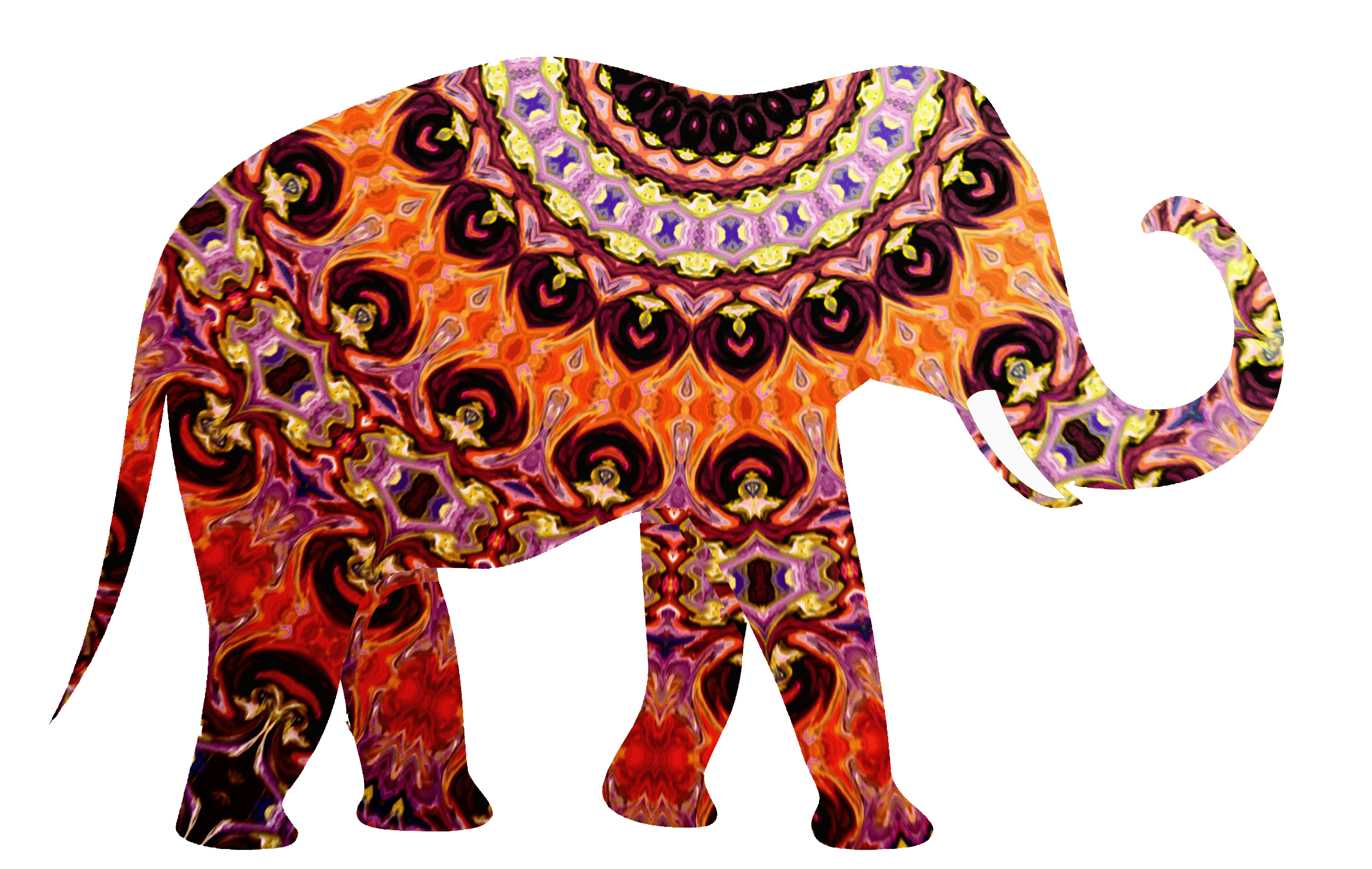 Decorated Indian Elephant Png – Our greeting cards are 5 x 7 in size.