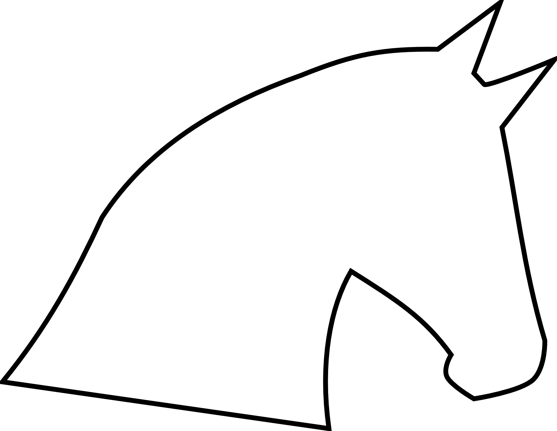 Beautiful And Cute Horse Head Drawing Free Image