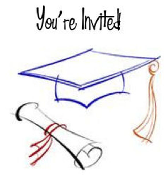 It's just a graphic of Free Printable Graduation Invitations regarding blank