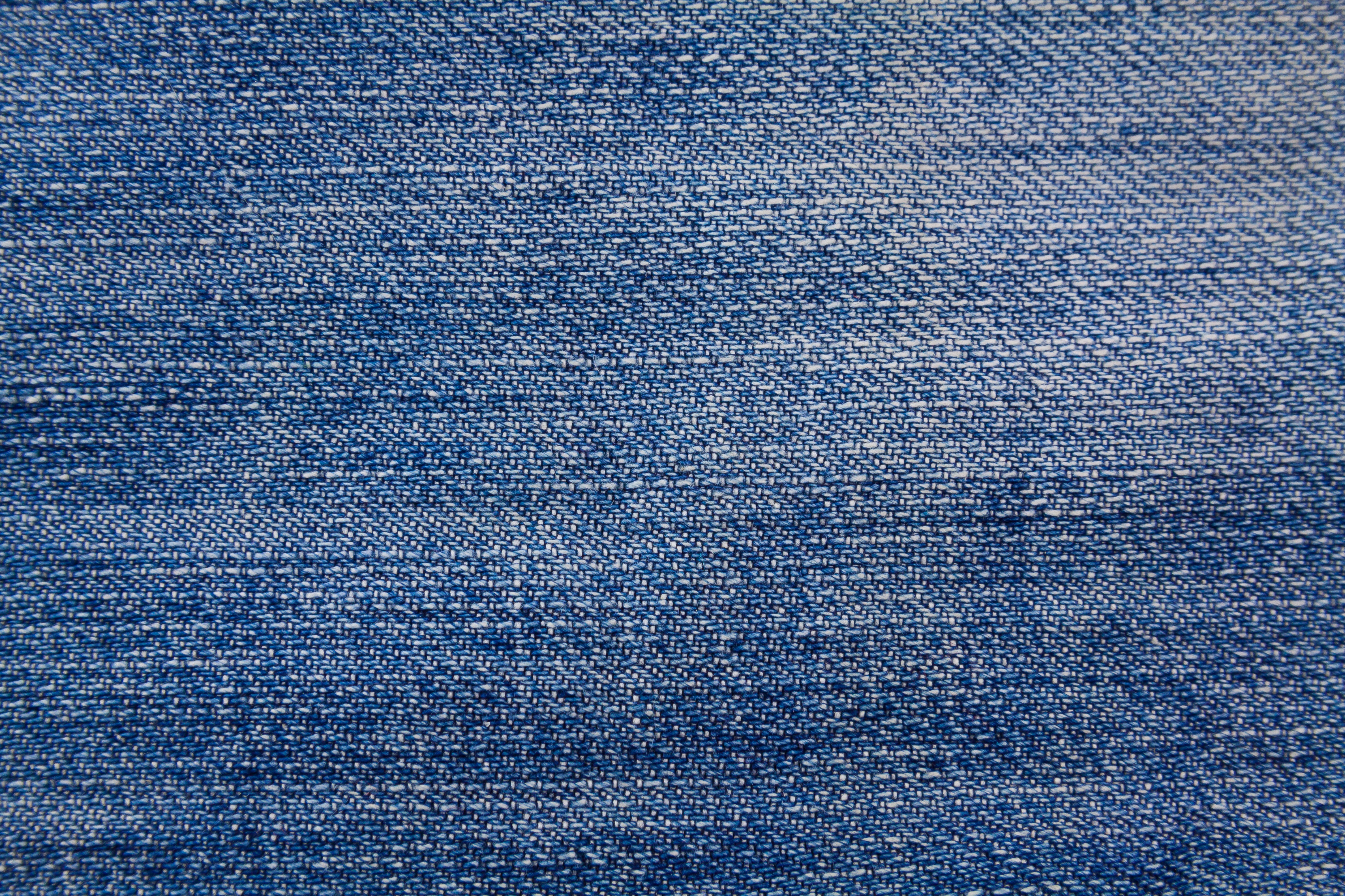 Wallpaper With Denim Fabric Texture