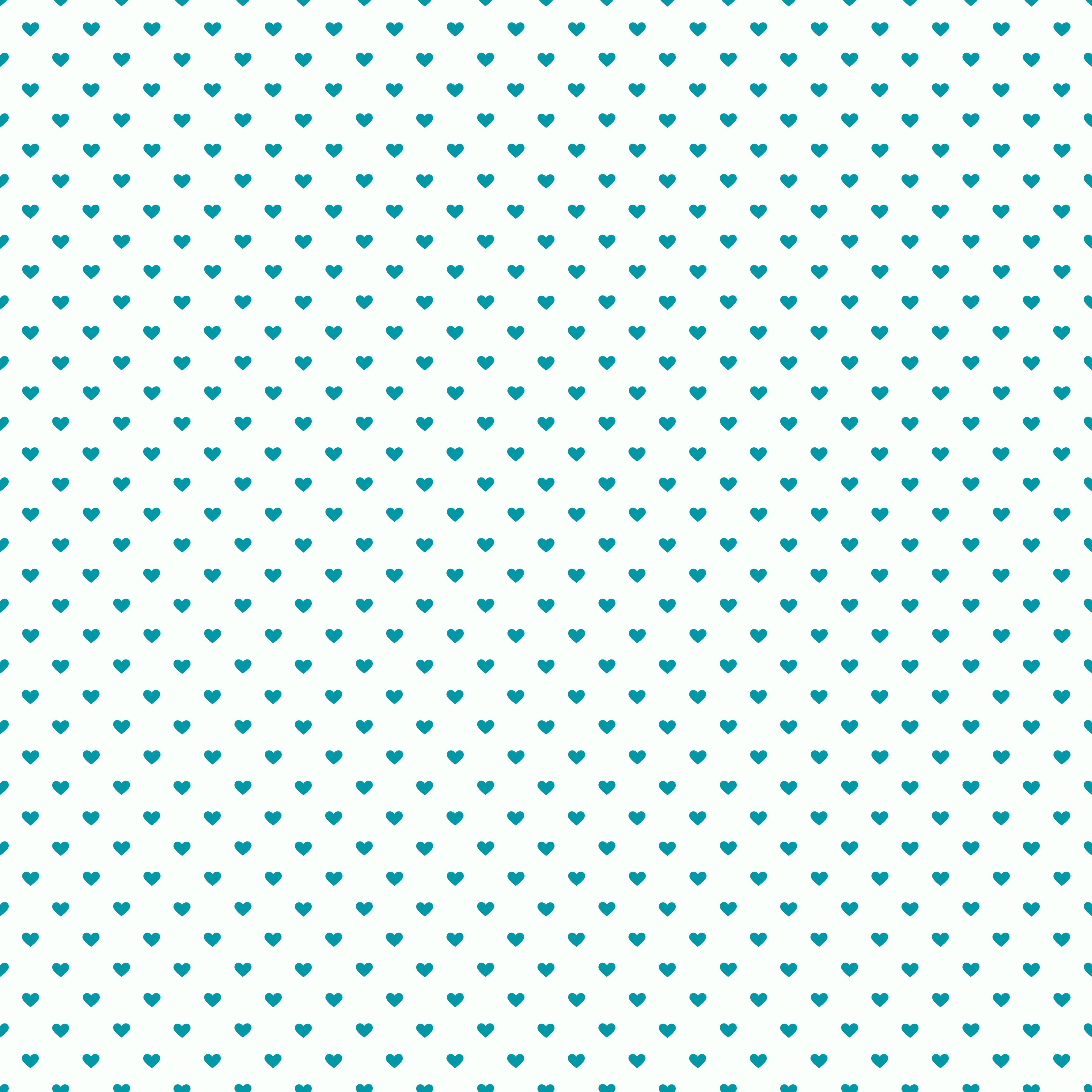 Seamless Blue Hearts On A White Background Free Image