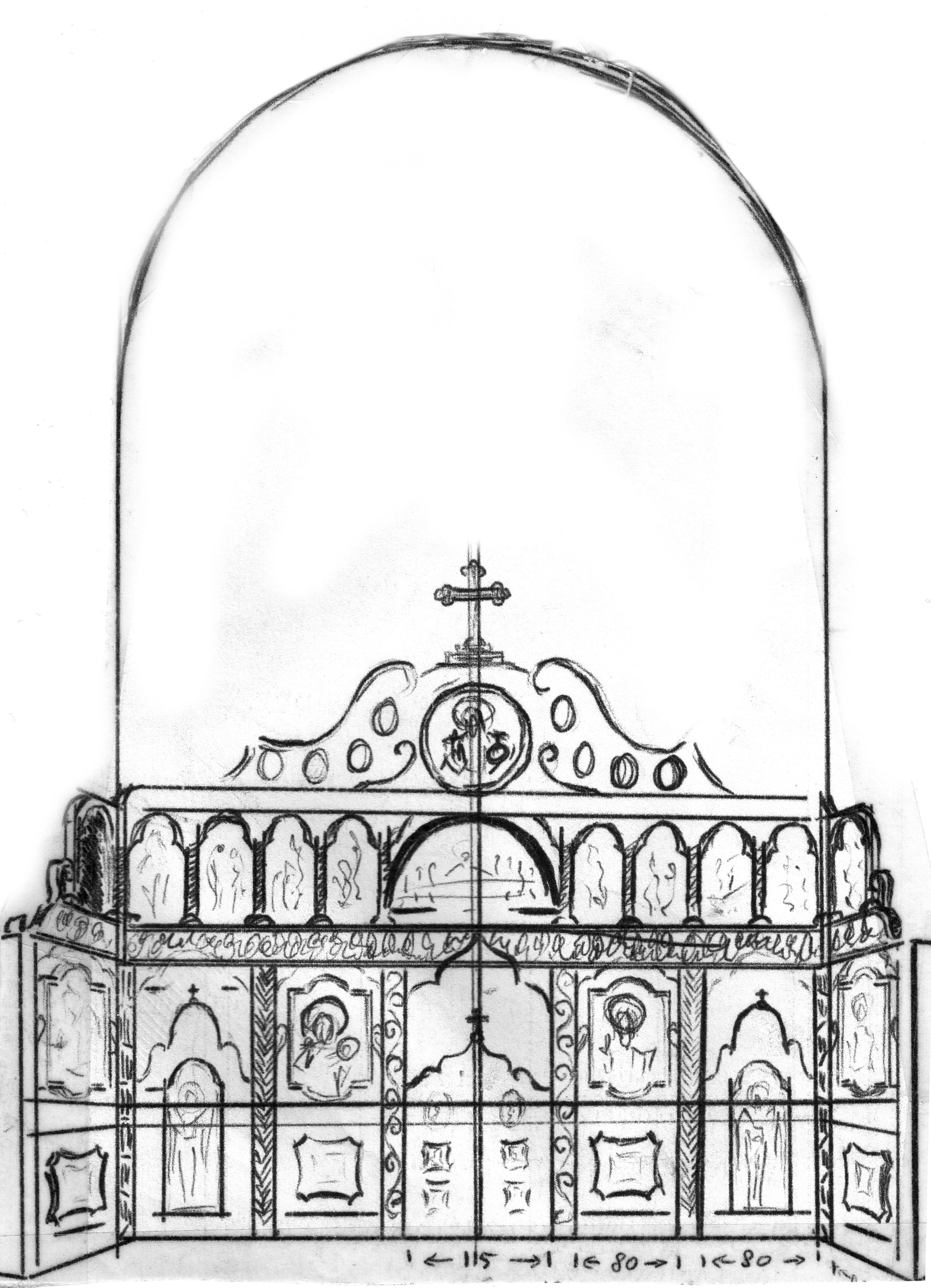 door pencil drawing disturbing iconostasis altar door pencil drawing free download iconostasis free image