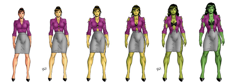 Sexy She Hulk Transformation Free Image
