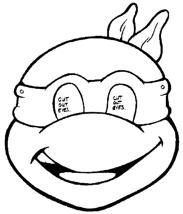 Teenage Mutant Ninja Turtle Face Coloring Page Free Image