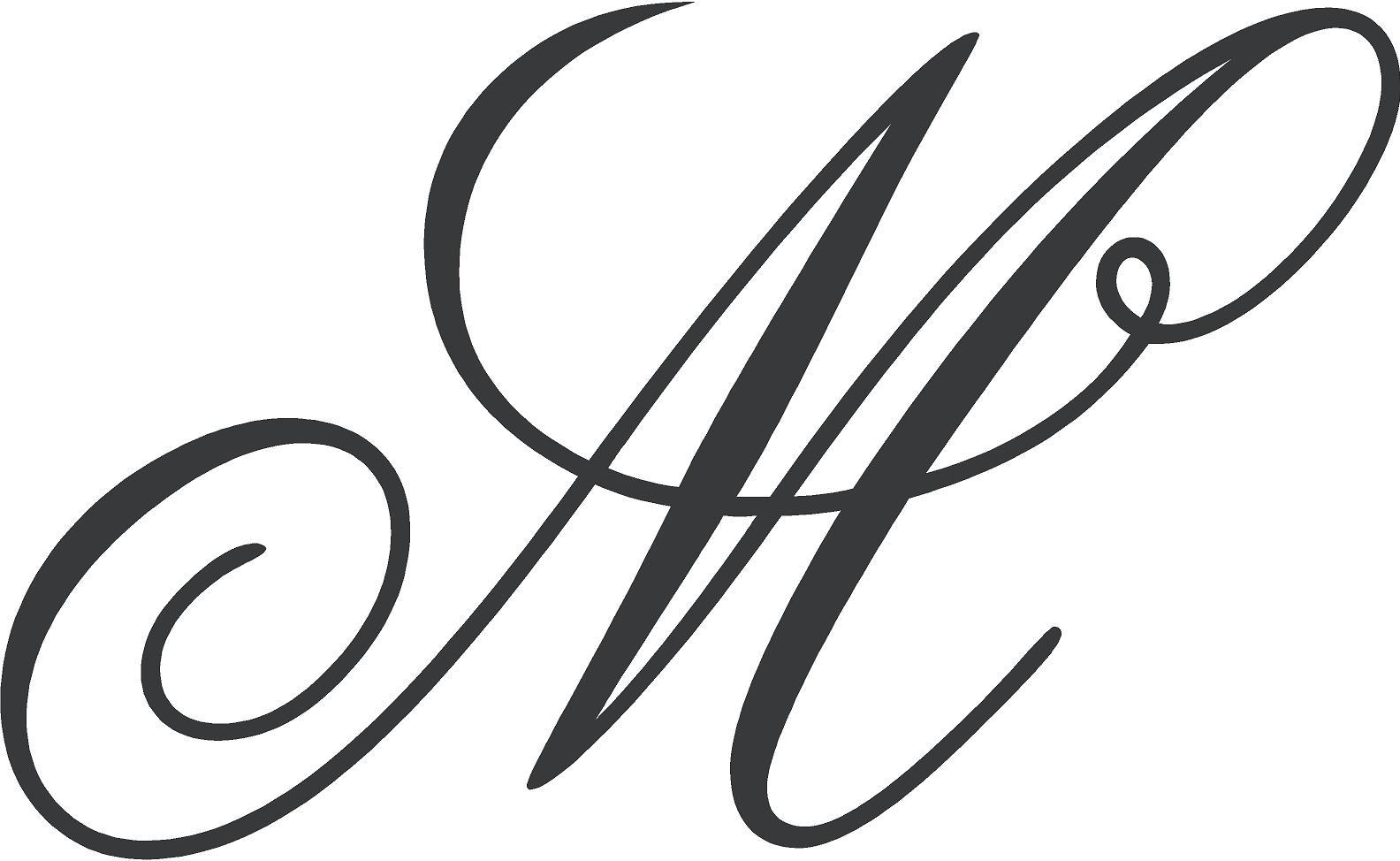 Fancy Cursive Letter M free image