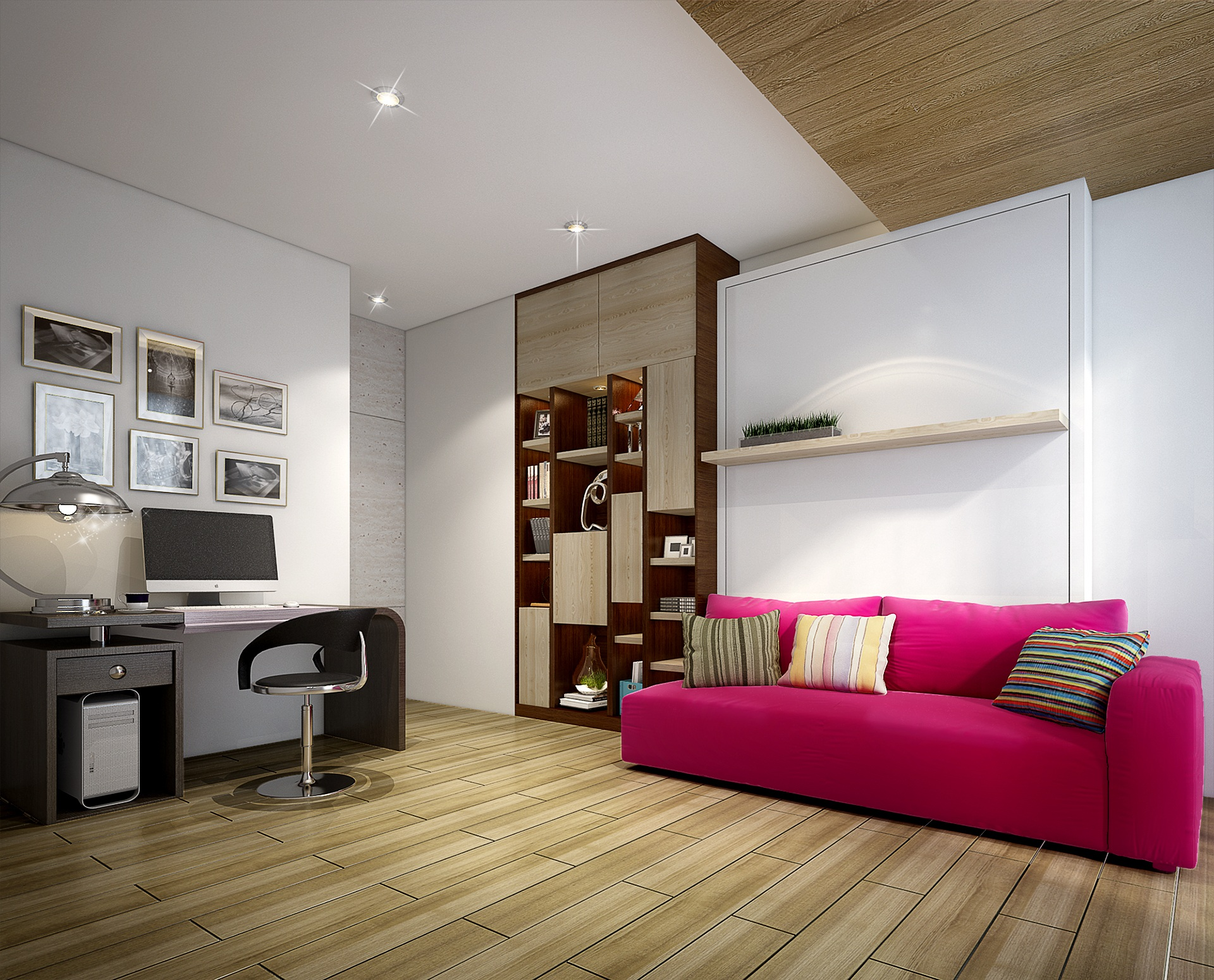 Interior 3d Design Of Bedroom For Teenager Free Image