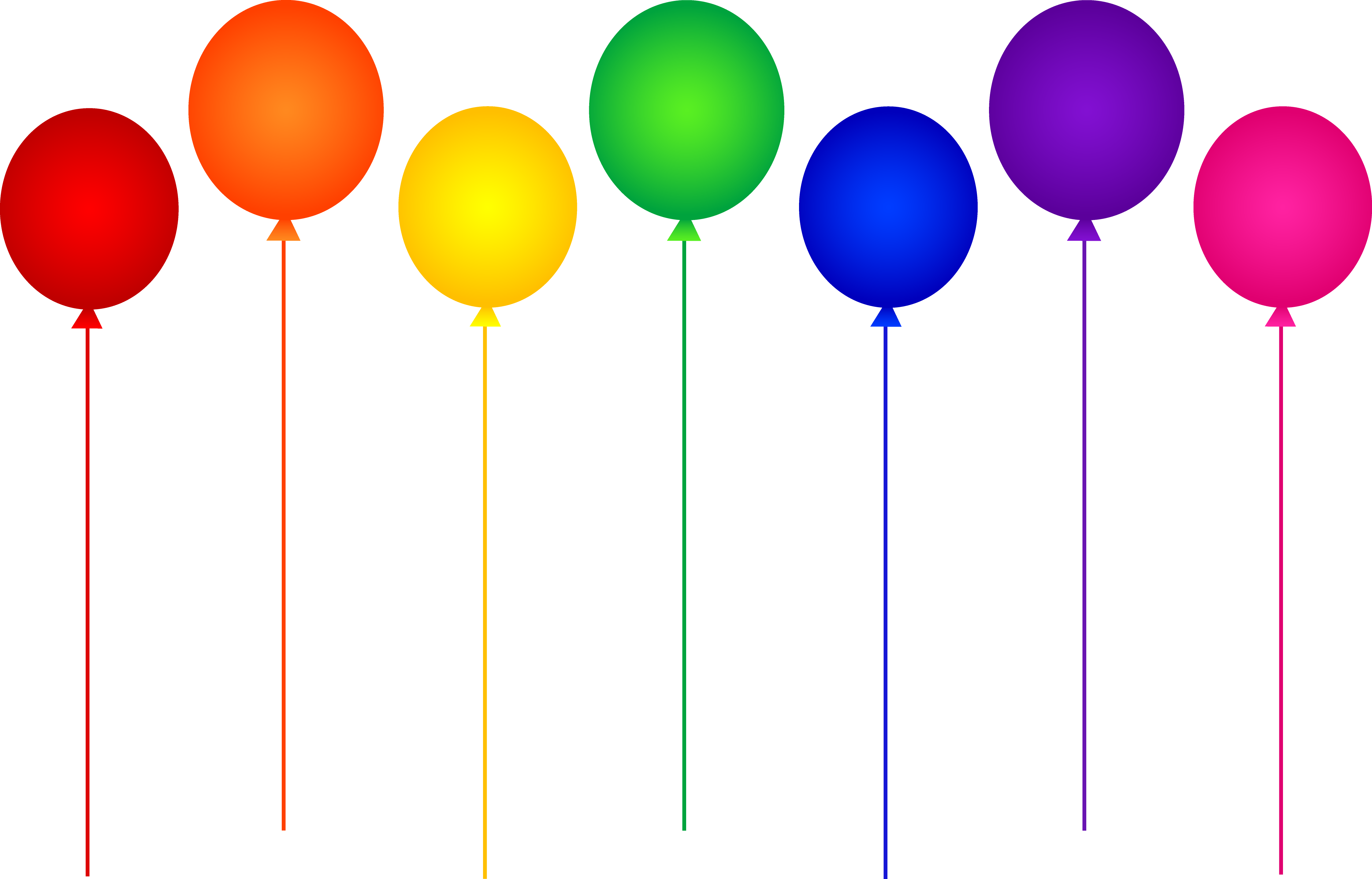 Balloon colorful PNG Transparent Image.