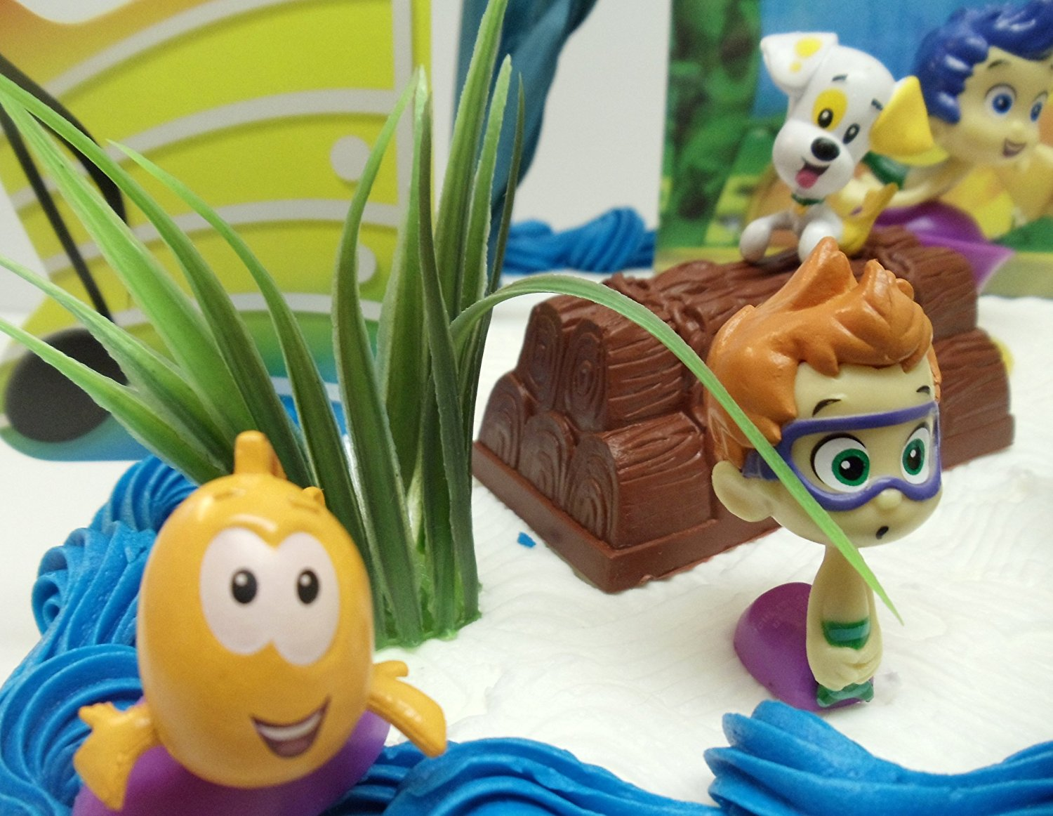 Pleasant Bubble Guppies 20 Piece Birthday Cake Topper Set Featuring Gil Personalised Birthday Cards Veneteletsinfo