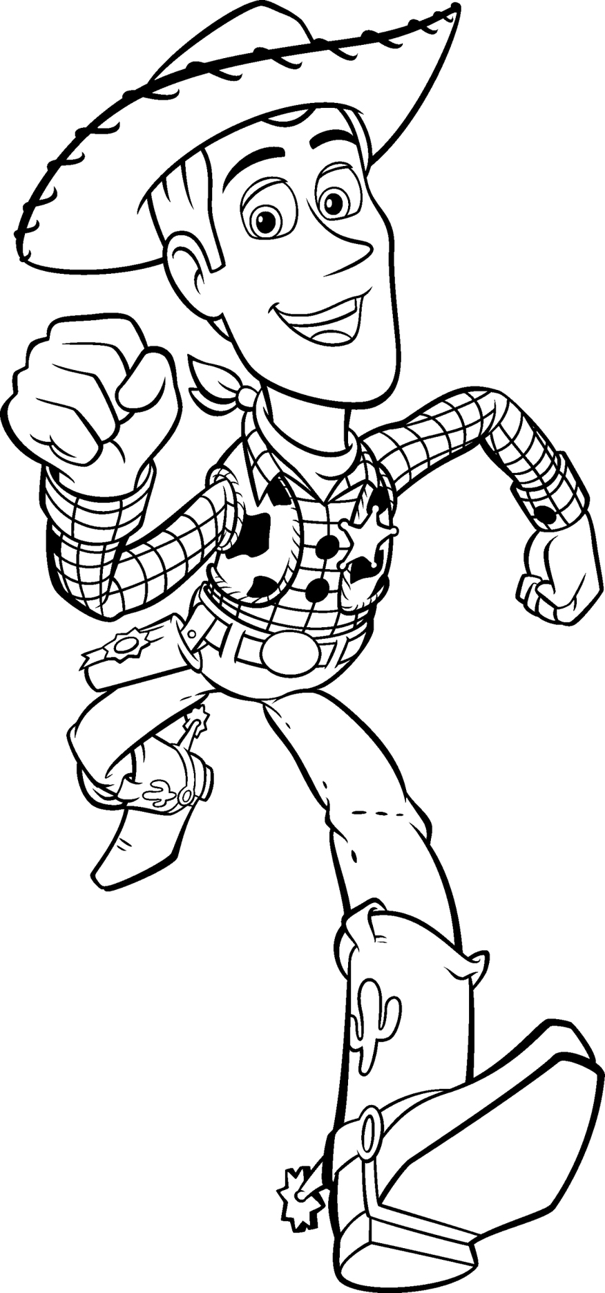 Pages story. Woody toy coloring free