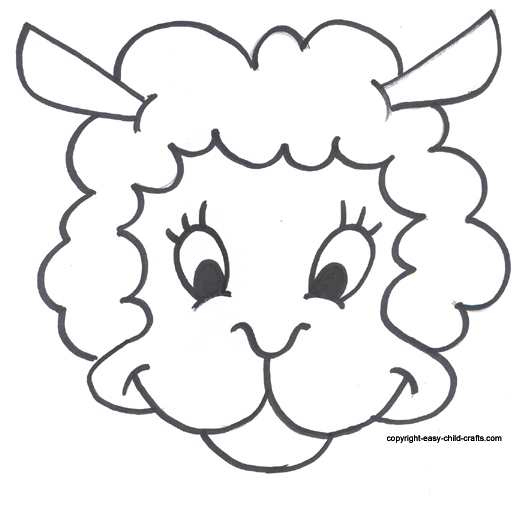 picture relating to Free Printable Pictures of Sheep titled Cost-free Printable Sheep Mask Template absolutely free graphic