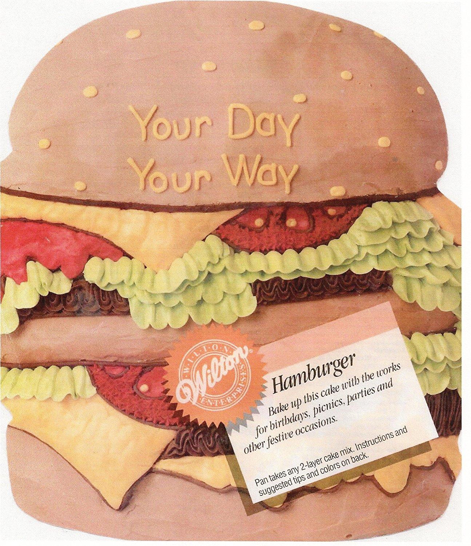 Wilton Hamburger Cheeseburger Sandwich Cake Pan (2105-3306