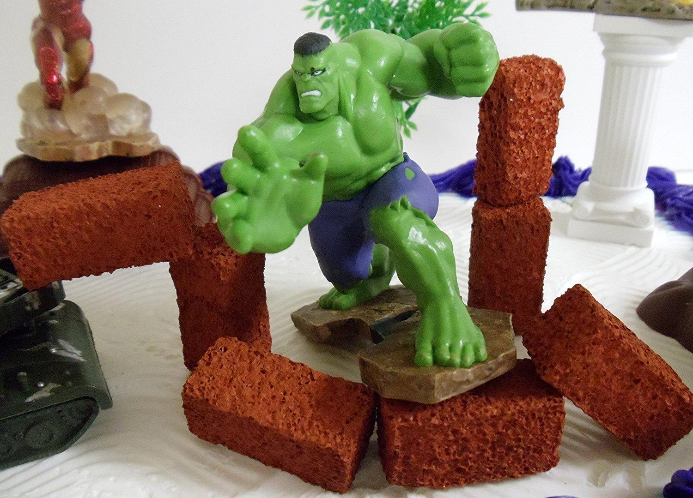 Amazing Avengers 15 Piece Birthday Cake Topper Set Featuring Captain Funny Birthday Cards Online Unhofree Goldxyz
