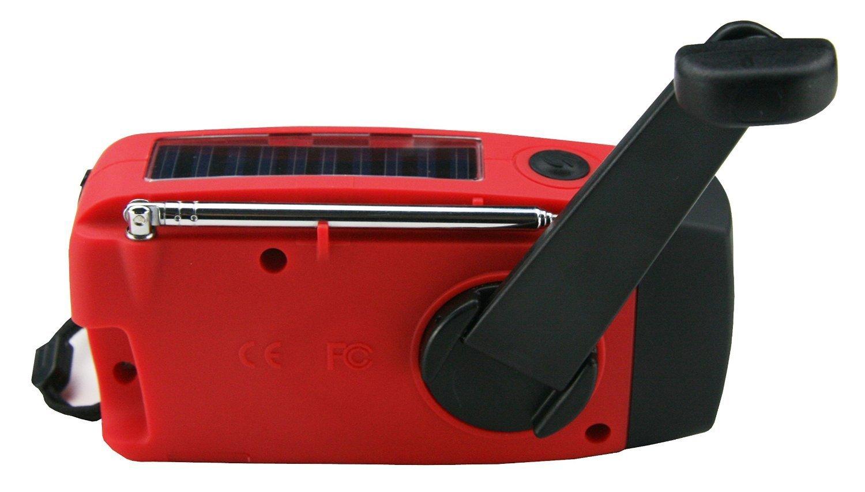 EMERGENCY WEATHER RADIO iRonsnow Dynamo Solar Hand Crank Self Powered AM//FM NOAA