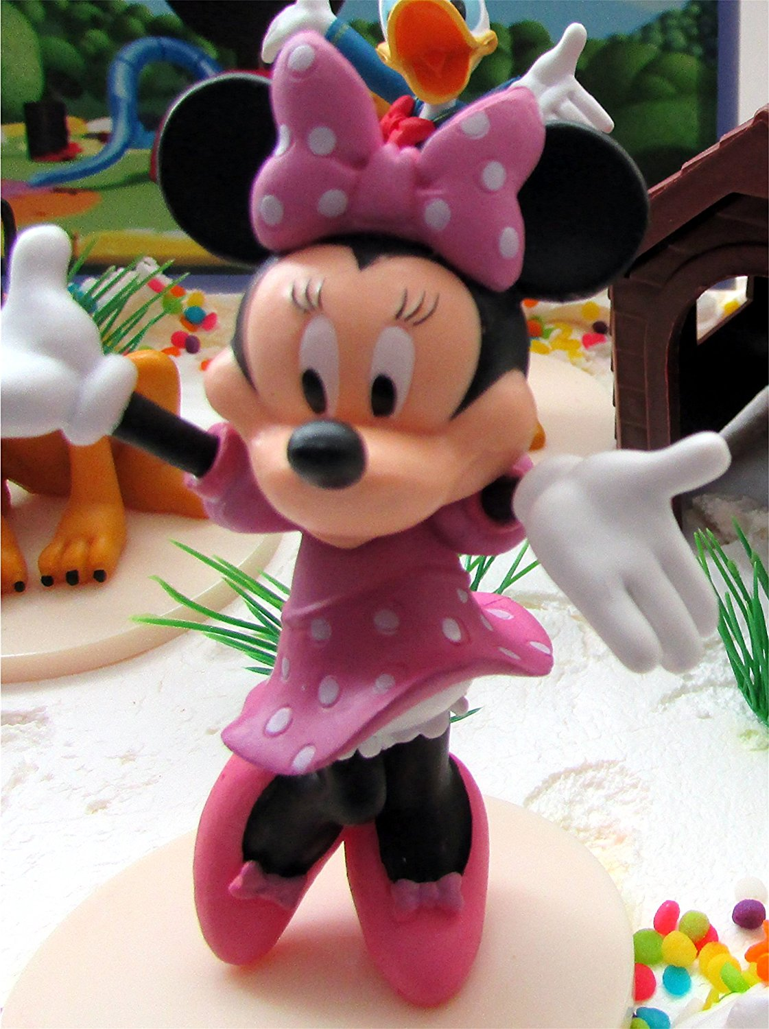 Swell Mickey Mouse Clubhouse Birthday Cake Topper Featuring Mickey Mouse Funny Birthday Cards Online Elaedamsfinfo