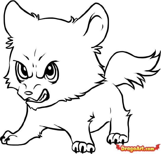 Cute Baby Wolf Drawings Easy Free Image