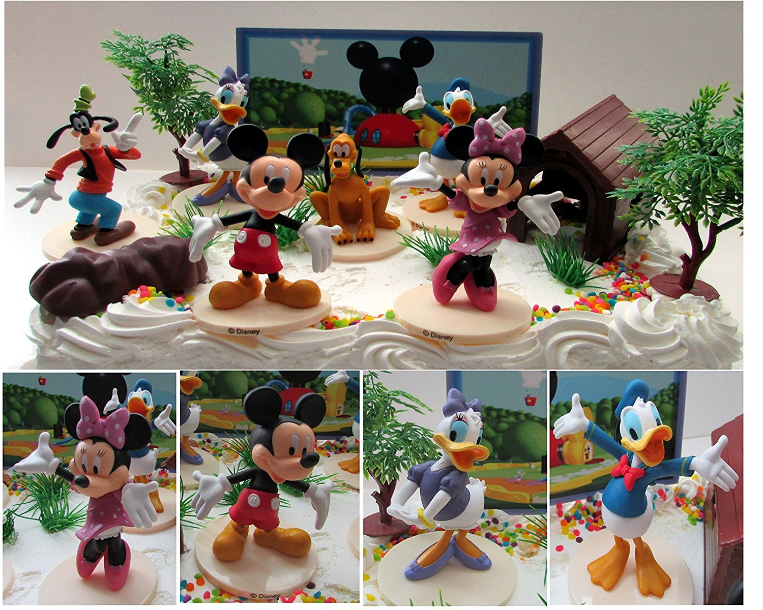 Tremendous Mickey Mouse Clubhouse Birthday Cake Topper Featuring Mickey Mouse Personalised Birthday Cards Paralily Jamesorg