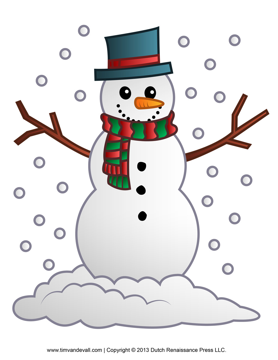 image relating to Printable Snowman named Cost-free Printable Snowman Clip Artwork cost-free picture