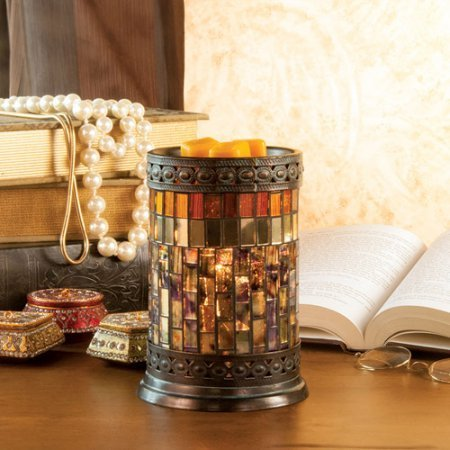 Mosaic Wax Warmer Gatsby Bronze Glass Metal 001 78074 By Scentsationals N2 Free Image