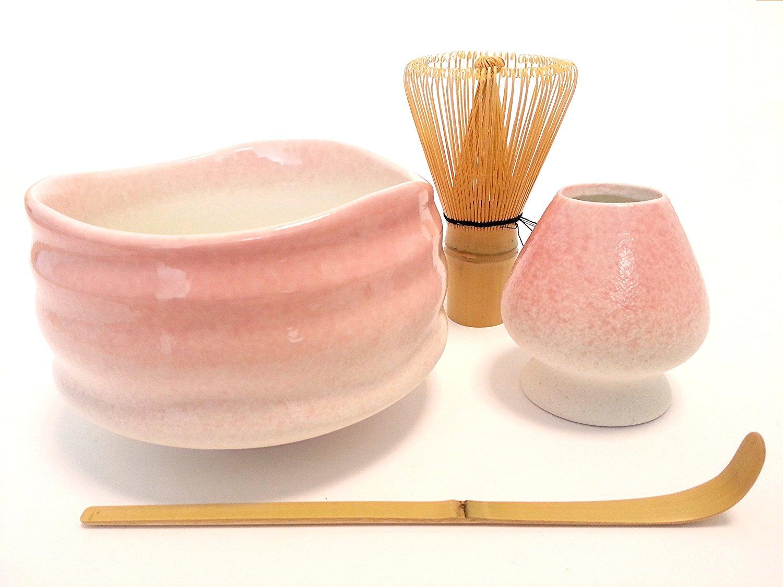 Burashi, 80 Whisk and Holder Goodwei Premium Matcha Tea Set Ceremonial Bowl Chawan Gift Box
