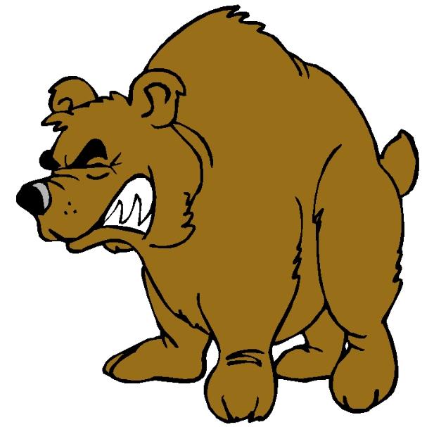 Bear growling. Clip art free image