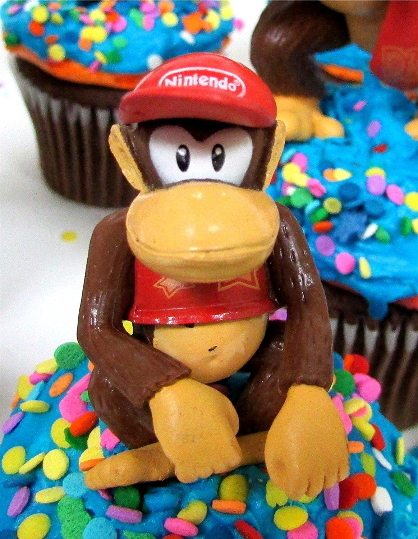 Wondrous 14 Piece Super Mario Brothers Donkey Kong Birthday Cupcake Topper Funny Birthday Cards Online Amentibdeldamsfinfo