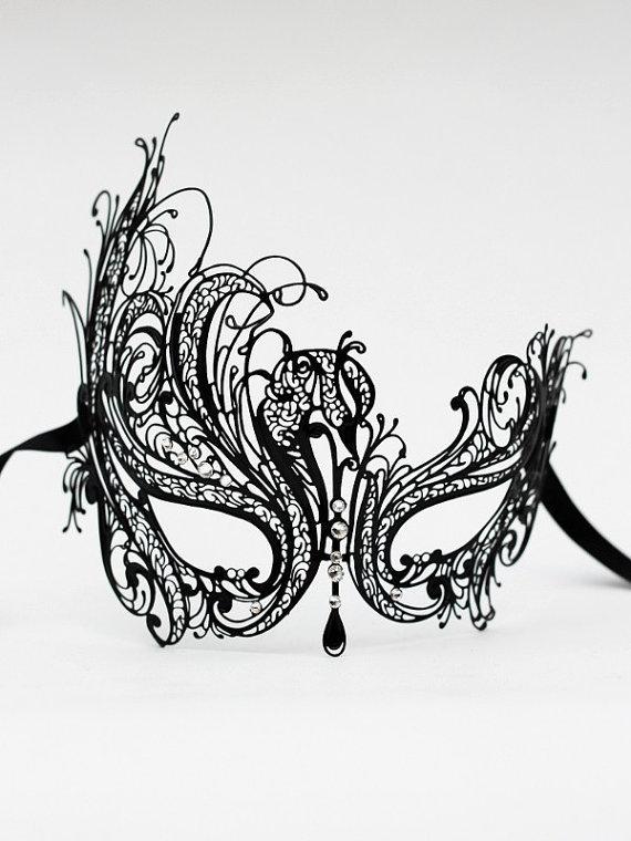 luxury filigree masquerade mask template free image