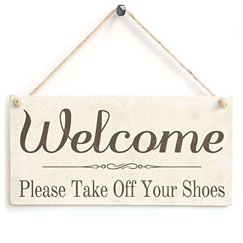 graphic regarding Please Take Off Your Shoes Sign Printable titled Welcome Make sure you Just take Off Your Sneakers Picket Chalk Indication As a result of