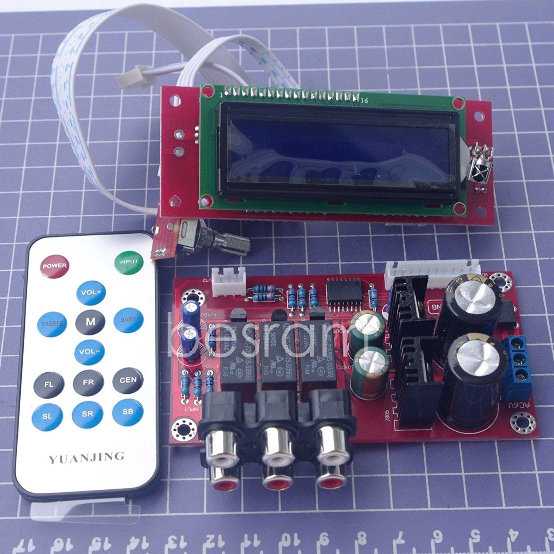PGA2311 Volume Stereo Pre-amplifier Preamp Board with LCD