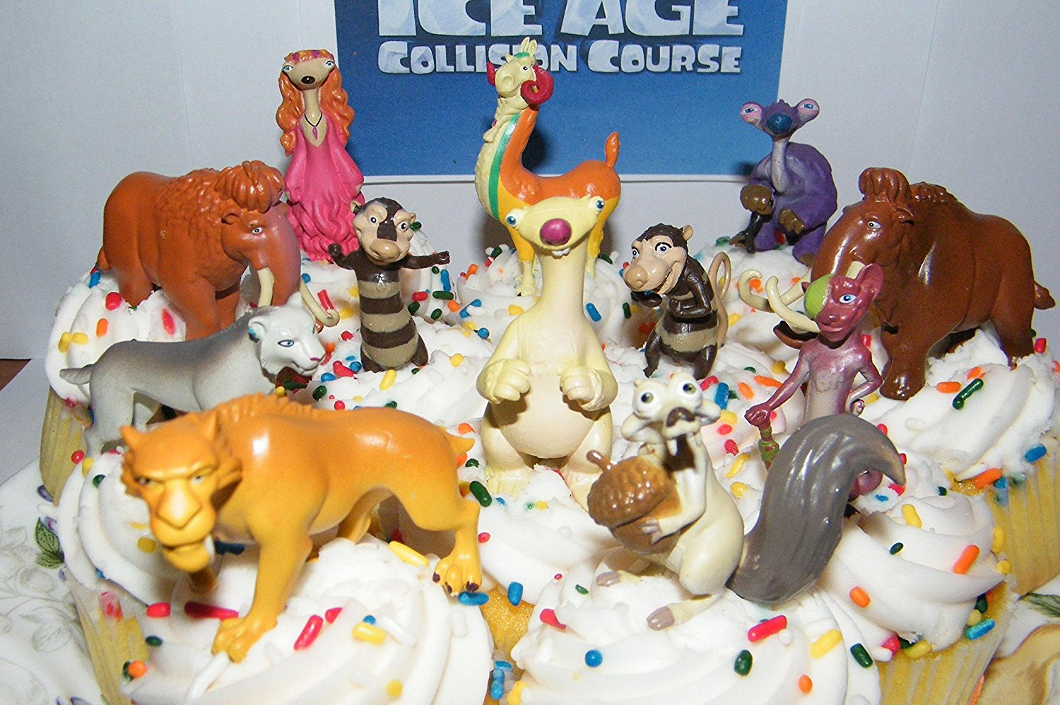 Ice Age Collision Course Movie Deluxe Cake Toppers Cupcake