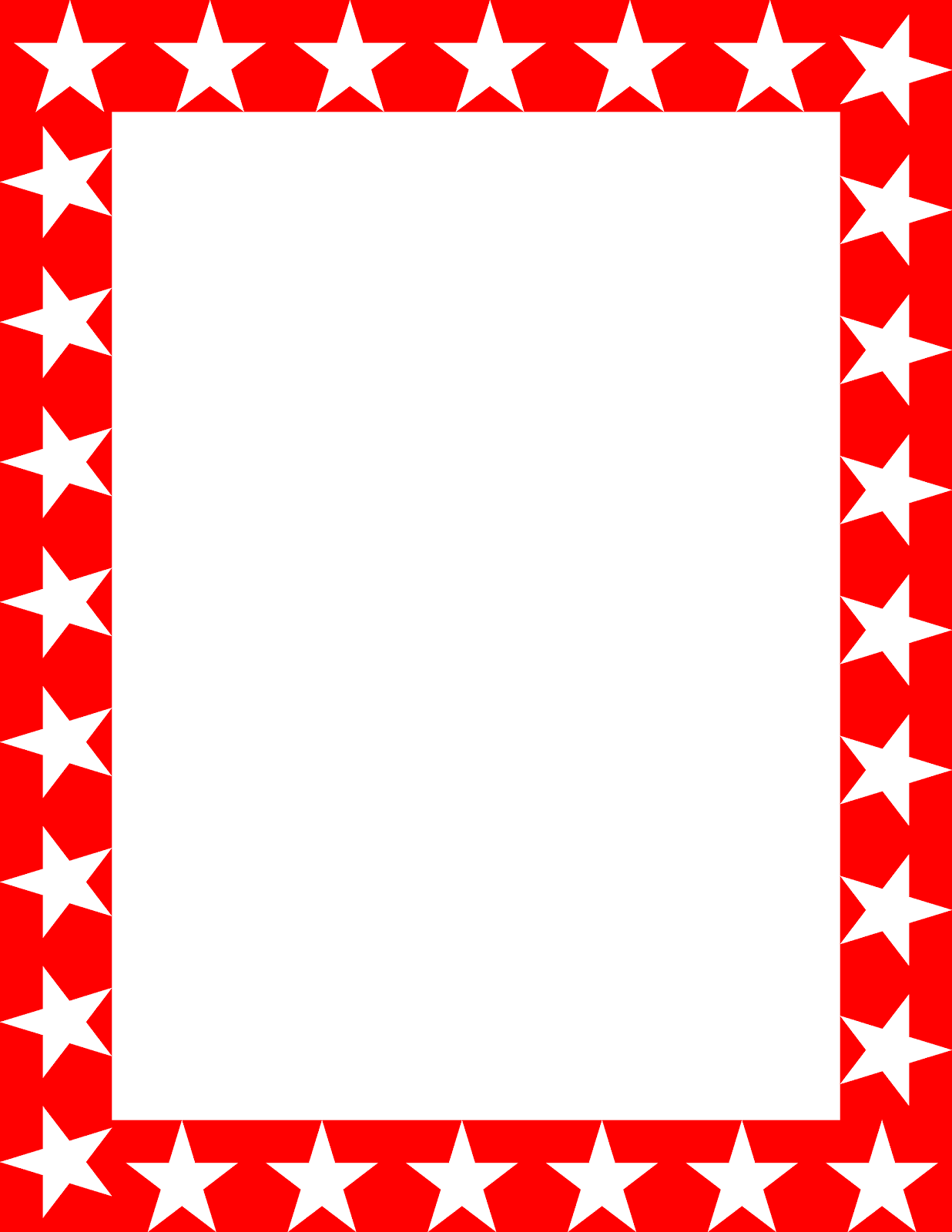 Red Star Borders And Frames Drawing Free Image