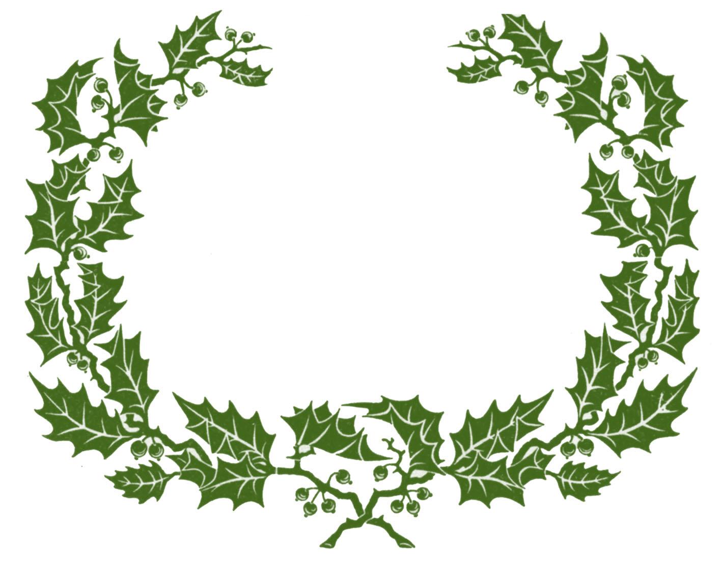 Christmas Holly Clip Art.Christmas Holly Border Clip Art N2 Free Image